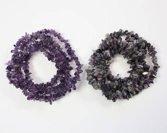 Gemstone Beads, Amethyst Beads, Sodalite Beads, Chip Beads, Organic Shape Beads, Natural Stone, DIY, BS181