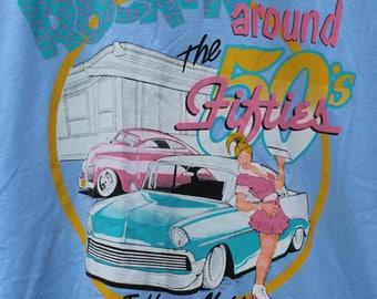 "Vintage 90s ""Rockin Around the Fifties"" Tuff-N-Nuff T-Shirt"