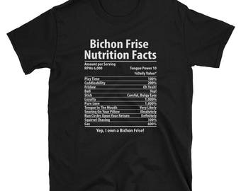 Bichon Frise Mom Shirt Dog Nutrition Facts Bichon Frise Gift T-Shirt