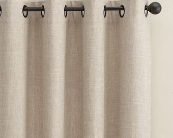 Linen Curtain. Linen windows panel. Linen curtains with rihgs. Stonewashed. Window curtains. All Sizes. 20 colours. Rings top.