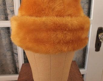 1960's Gold Faux Fur Bucket Hat