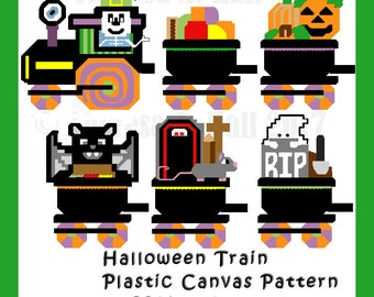 Halloween Train Plastic Canvas Pattern