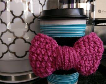 Cup Sleeve - Bow - Coffee Sleeve - Coffee Lover Gift