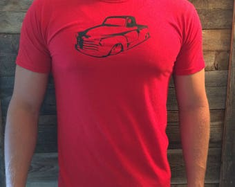 Chevy 3100 Hot Rod/ Vintage Truck Tee Shirt/ Birthday Present/ Car Lover/ Present for Guy/ Hot Rod T-shirt/ Cool Truck Shirt/ Fathers Day