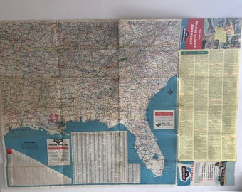 Ohio Road Map Etsy - Road map southeast us