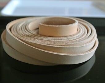 Beige leather, 10 x 2.2 mm flat cord 50 cm