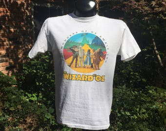 Wizard of oz t shirt etsy for Wizard t shirt printing