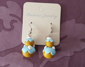 """""""religious"""" polymer clay earrings"""