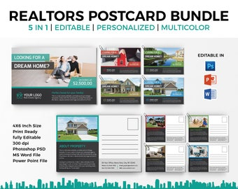 realtor post cards