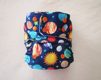 Planets, Cloth Diapers, One Size Diaper, Pocket Diapers, Cloth Diaper Pattern, Modern, Baby Boy Diaper, Cloth Nappy, Outerspace, Stay Dry