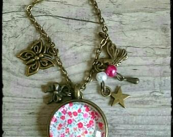 Long necklace/long necklace bronze Liberty/Collar largo broncea liberty has Liberty