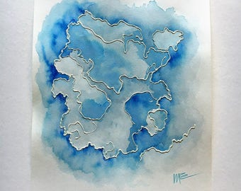 Watercolor Painting - Clouds