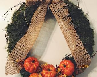 18in Pumpkin Patch Wreath