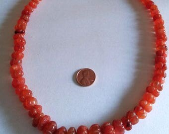 Wow Carnelians Bead Necklace
