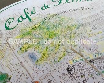 Cafe de Flore, Paris Placemat Snapshot
