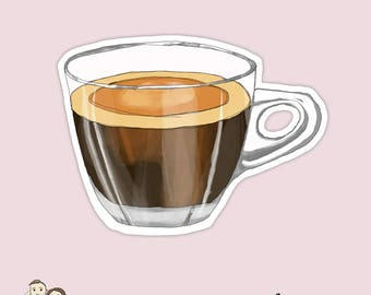 WATERCOLOUR COFFEE CUP | Mug | Glass | Die Cut | Erin Condren | Tn | D51