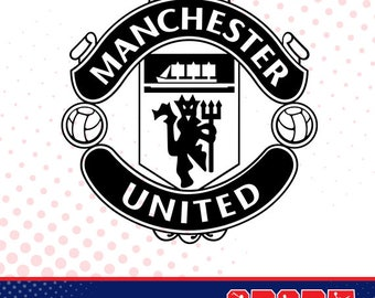 Manchester United silhouette, sport silhouettes, Soccer silhouette SS-SO-016