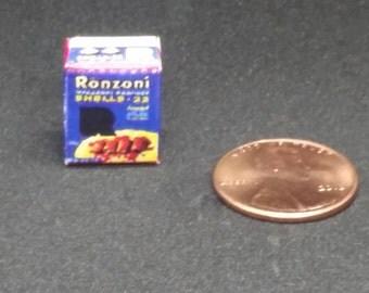 Handmade miniature box of Ronzoni macaroni shells