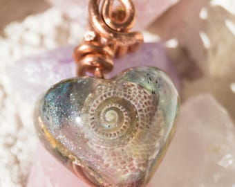 Great Blue Heron ~ Crystalline Orgone Pendant Necklace -  528hz - Multi Crystal Animal Totem Artisan Animal Spirit Guides Jewelry