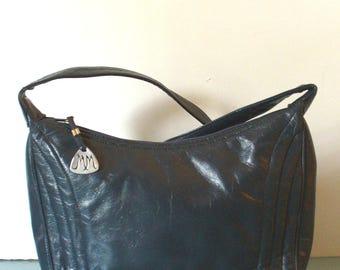 Morris Moskowitz Navy Blue Hobo-style Shoulderbag