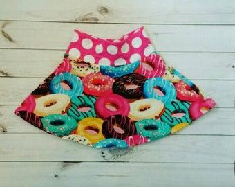 Donut Skirt - Girls Donut Skirt - Donut Birthday - Girls Clothing - Skater Skirt - Ready to Ship - 2T 3T - Girls Clothing - Toddler Clothing