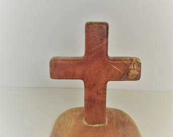 Cross, Olive Wood, Standing Wood Cross, Wood ornament, Wooden, Handmade, Natural, Holy, Religious, Home decor, Prayer, Wood, Free Shipping