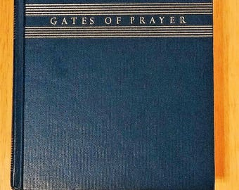 Gates of Prayer: New Union Prayerbook, 1991 hardcover, Jewish prayers, English and Hebrew
