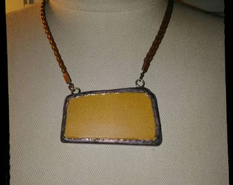 Unique recycled face brick necklace