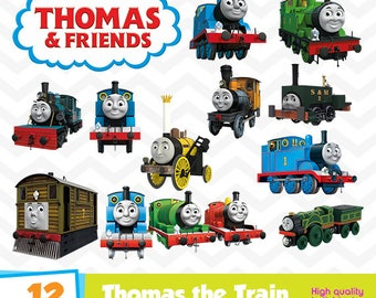 Thomas the Train Clipart, Thomas the Train PNG Files, Digital Designs, Party Printables, Birthday Party, Instant Download, Funny-029