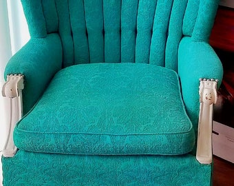 SOLD* Custom Hand Painted Wing Chair