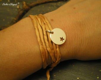 "Camel ""pampering"" silk cord bracelet"