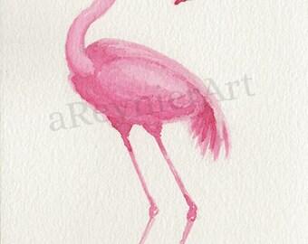 Original illustration series flamingo (n = 4/8) 10 x 15cm