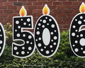 Birthday Candle Yard Sign