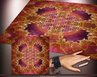 Crystal Grid Cloth - Harmony - Crystal Meditation Energy Grid