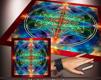 Crystal Grid Cloth - Manifesting Abundance - Crystal Meditation Energy Grid
