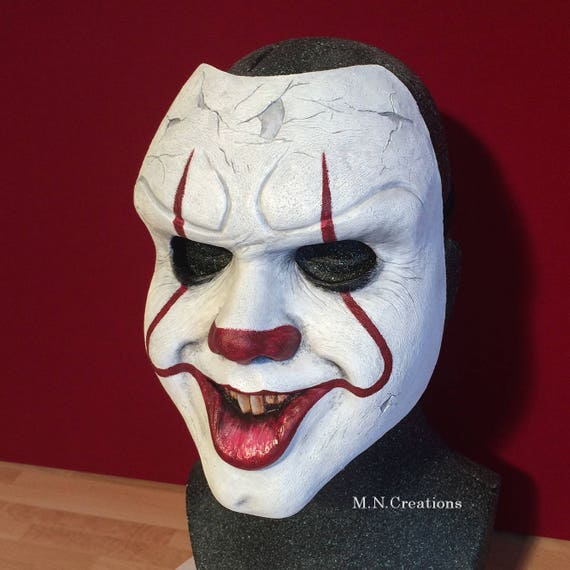 IT Pennywise Clown Mask Resin Horror Stephen King Bill IT Pennywise Clown Mask Resin Horror Stephen King Bill Skarsgard 2017 - 웹