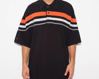 Harley Motorcycle, Polo Shirt, Harley Davidson, Harley Tee, Logo, Motorcycle, Biker, Harley Davidson Shirt, 90s Vintage, 90s Clothing