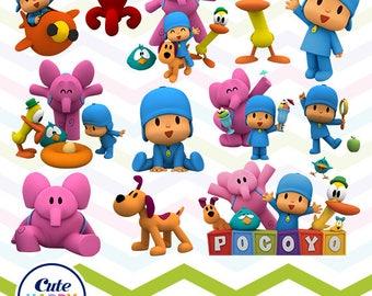 Pocoyo Clipart, Pocoyo PNG, Pocoyo Files, Printable Clipart, Transparent Background PNG, Digital Files for Kids - CUTE-016