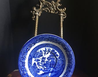 1910s, British Anchor Pottery, Willow, Antique Plate