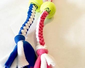 Dog Pull Toy, Tennis Ball Dog Toy, Dog Tug Toy, Hand Made Dog Toys, Chew Toy, Dog Toys, Dog Toy, Tennis Ball, Tug Toy, Braided Dog Toy,