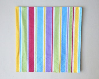 2 multicolored stripes (R1) paper napkins