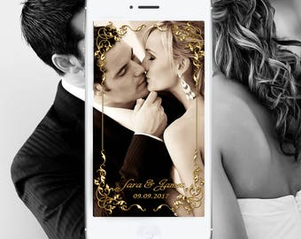 Custom Wedding Geofilter Personalized Wedding Filters Customized Wedding Snapchat Personal Wedding Snap Chat Photo filter  Mr. and Mrs