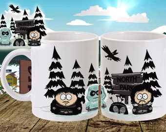 North park mug - game of thrones and south park cross over - 11oz size