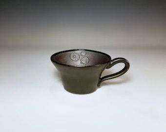 Gear Mug / Matte Pottery / Ceramic Metal Mug / Wheel Thrown Mug / Stoneware Mug / Handmade Mug