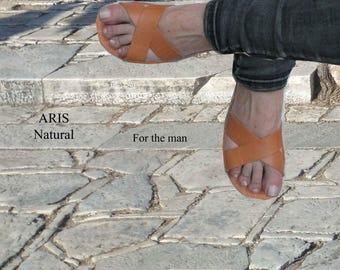 Ανδρικά σανδάλια, άνδρες ελληνικά σανδάλια, Αρχαία Ελληνικά δερμάτινα σανδάλια, παπούτσια για άνδρες, Casual ανδρικά παπούτσια UNISEX,ARIS