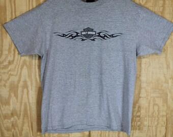 Vintage 1990's HARLEY DAVIDSON House of Harleys Oceanside CA R K Stratman Cotton T Shirt T-shirt Tee Medium Large