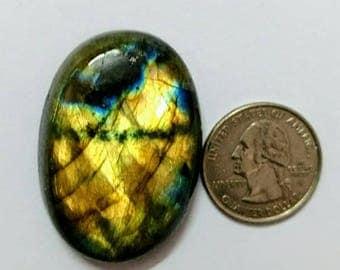 44 x 31 mm,Ovel Shape Labradorite Cobochon/Golden Flash/wire wrap stone/Super Shiny/Spectrolite Cabochon/Semi Precious Gemstone/labradorite