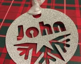 Personalised Christmas Gift Tag set of 4 - Name Tag - Glitter Tag - Christmas Present Tag