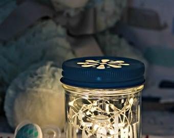 Night Light for Boy, Boy Baby Shower Gift, Newborn Gift, Gift Basket Item, Fairy Lights in Jar, Light for Nursery, Its A Boy
