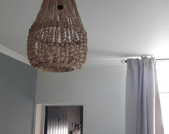 Wooden beads chandelier